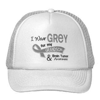 I Wear Grey 42 Grandson Brain Tumor Mesh Hats