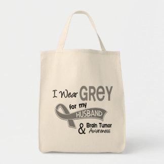 I Wear Grey 42 Husband Brain Tumor Tote Bag