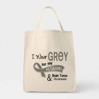 I Wear Grey 42 Husband Brain Tumor Tote Bag