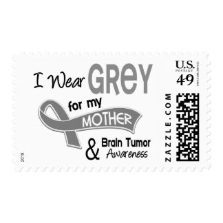 I Wear Grey 42 Mother Brain Tumor Postage Stamps