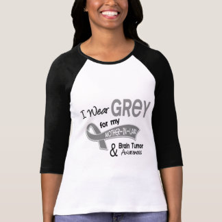 I Wear Grey 42 Mother-In-Law Brain Tumor Tee Shirts