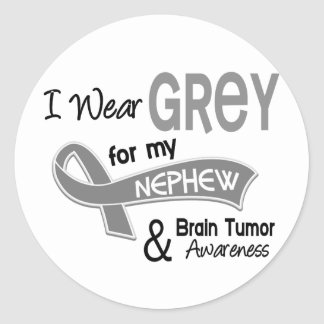 I Wear Grey 42 Nephew Brain Tumor Classic Round Sticker