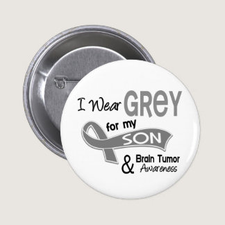 I Wear Grey 42 Son Brain Tumor Button