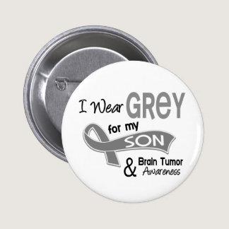 I Wear Grey 42 Son Brain Tumor Button