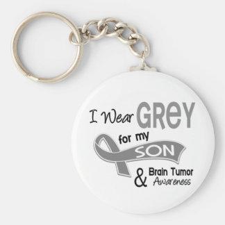 I Wear Grey 42 Son Brain Tumor Keychain