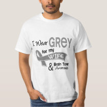 I Wear Grey 42 Wife Brain Tumor T-Shirt