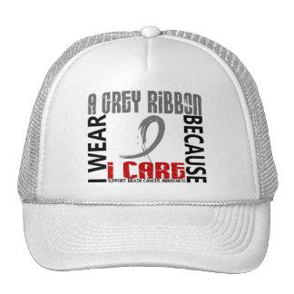 I Wear Grey Because I Care 46 Brain Cancer Trucker Hats