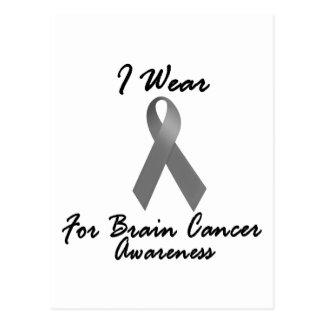 I Wear Grey For Awareness 1 Brain Cancer Postcard