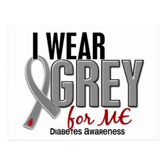 I Wear Grey For ME 10 Diabetes Postcard