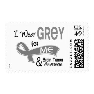 I Wear Grey For Me 42 Brain Tumor Postage Stamps