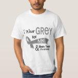 I Wear Grey For Me 42 Brain Tumor T Shirt