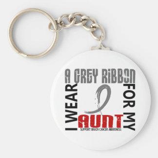 I Wear Grey For My Aunt 46 Brain Cancer Key Chains