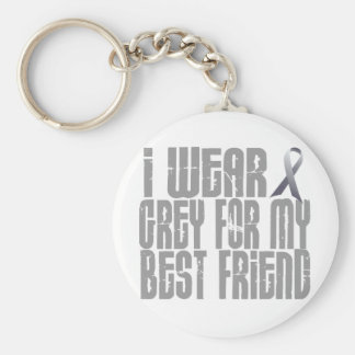 I Wear Grey For My BEST FRIEND 16 Keychain
