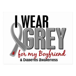 I Wear Grey For My Boyfriend 10 Diabetes Postcard