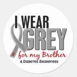 I Wear Grey For My Brother 10 Diabetes Sticker