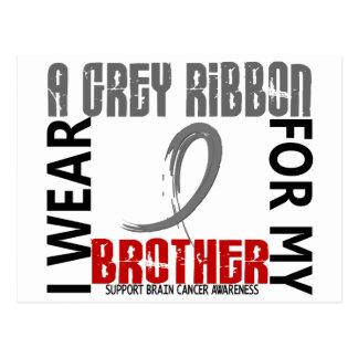 I Wear Grey For My Brother 46 Brain Cancer Postcard