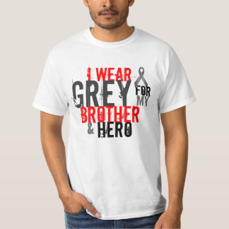 i wear grey for my brother and hero t shirts