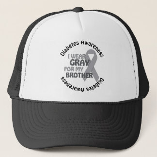 I Wear Grey For My Brother Support Diabetes Awar Trucker Hat