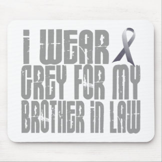 I Wear Grey For My BROTHERINLAW 16 Mouse Pad