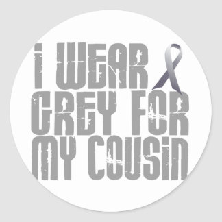 I Wear Grey For My Cousin 16 Classic Round Sticker