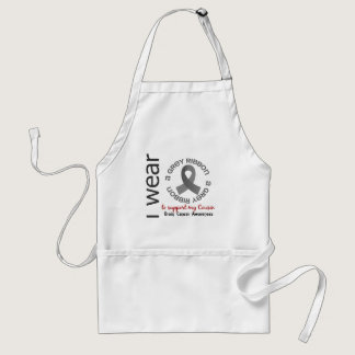 I Wear Grey For My Cousin 17 Brain Cancer Adult Apron