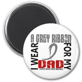 I Wear Grey For My Dad 46 Brain Cancer 2 Inch Round Magnet