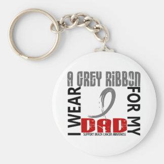 I Wear Grey For My Dad 46 Brain Cancer Key Chains