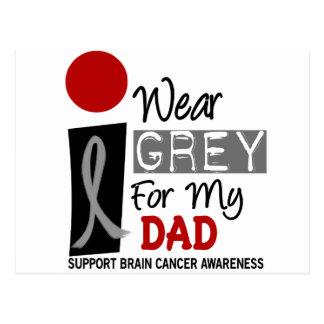 I Wear Grey For My Dad 9 BRAIN CANCER Postcard