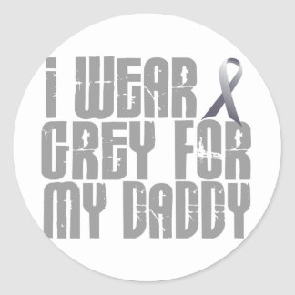 I Wear Grey For My DADDY 16 Classic Round Sticker