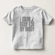 I Wear Grey For My Daddy 16 Toddler T-shirt
