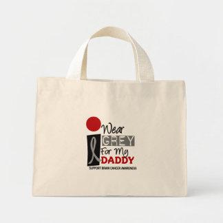 I Wear Grey For My Daddy 9 BRAIN CANCER Mini Tote Bag