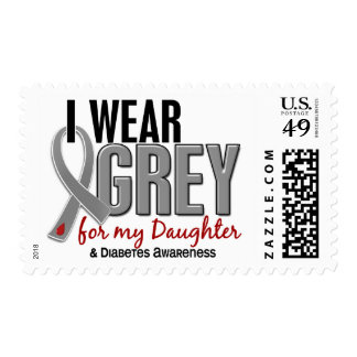 I Wear Grey For My Daughter 10 Diabetes Postage Stamp