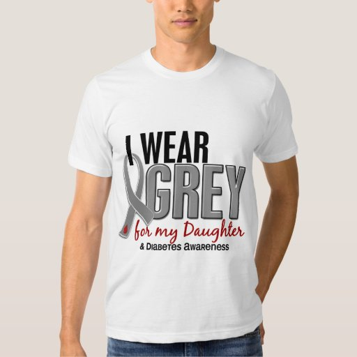 I Wear Grey For My Daughter 10 Diabetes T-Shirt