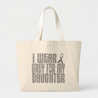 I Wear Grey For My DAUGHTER 16 Canvas Bags