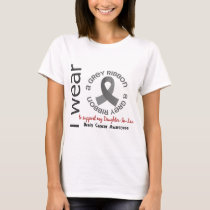 I Wear Grey For My Daughter-In-Law 17 Brain Cancer T-Shirt