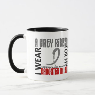 I Wear Grey For My Daughter-In-Law 46 Brain Cancer Mug