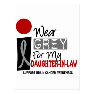 I Wear Grey For My Daughter-In-Law 9 BRAIN CANCER Postcard
