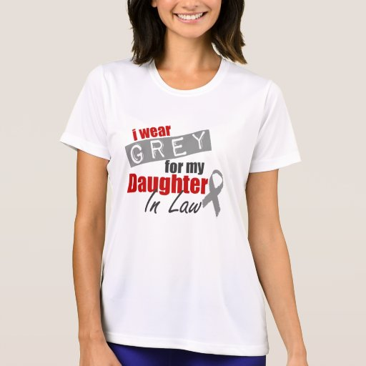 I Wear Grey For My Daughter In Law Tee Shirt
