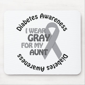 I Wear Grey For My Diabetes Support Diabetes Awar Mouse Pad