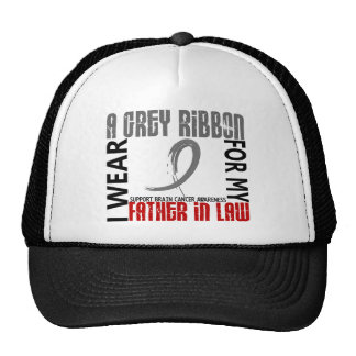 I Wear Grey For My Father-In-Law 46 Brain Cancer Mesh Hat