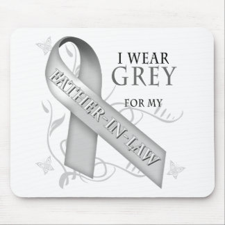 I Wear Grey for my Father-In-Law Mouse Pad
