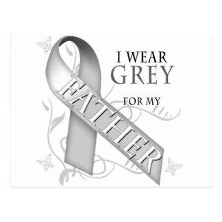 I Wear Grey for my Father Postcard