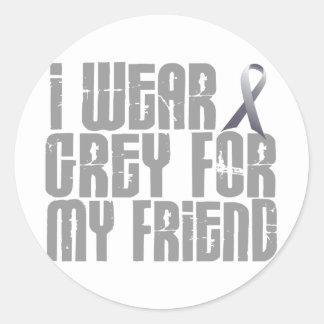 I Wear Grey For My FRIEND 16 Classic Round Sticker