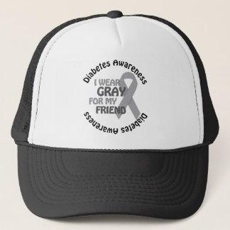 I Wear Grey For My Friend Support Diabetes Awar Trucker Hat