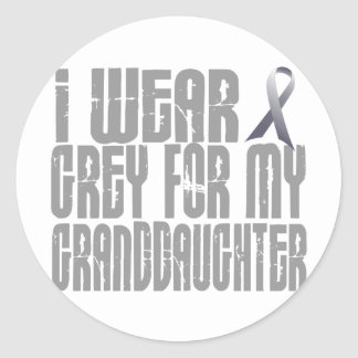 I Wear Grey For My GRANDDAUGHTER 16 Classic Round Sticker