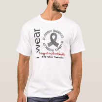 I Wear Grey For My Granddaughter 17 Brain Cancer T-Shirt