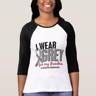 I Wear Grey For My Grandma 10 Diabetes Shirt