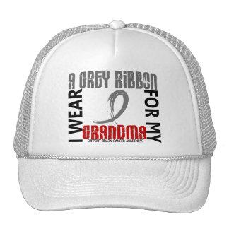 I Wear Grey For My Grandma 46 Brain Cancer Hats
