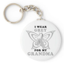 I Wear Grey for my Grandma Keychain