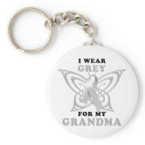 I Wear Grey for my Grandma Keychain